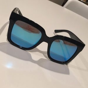 Quay Supine 63mm Square Sunglasses